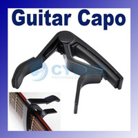 Wholesale The Single Handed Tune Quick Change Capo Trigger Electric string Guitar Black High Quality