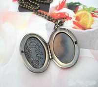 Wholesale DIY mm Necklace Pendant Bronze European Oval Prayer Craft Photo Frame Locket Jewelry Finding