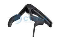 Metal guitar capo - The Single Handed Tune Quick Change Capo Trigger Electric string Guitar Black High Quality