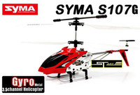 Wholesale BIG SALE SYMA S107G V CH RC Helicopter with Mah Rechargeable Battery Flashlight Charger