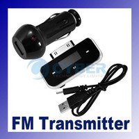 Wholesale Wireless FM Transmitter Redio200 Channels LCD Shows for ipod iPhone Touch Car Charger USB Cable Adeal