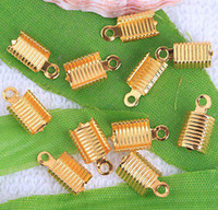 Wholesale Gold Plated End Caps Crimp Beads x6mm promotion