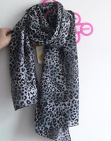 Wholesale New Fashion Lady Chiffon Golden amp Silver Printed Leopard Scarf Scarves Headware Shawl Christmas Gift