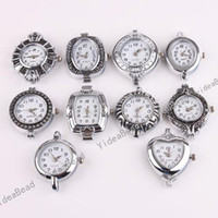 Wholesale 50 Bulk Mixed Assorted Silver Tone Quartz Watch Face Fit Watch Accessories DIY