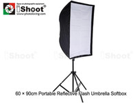 Wholesale iShoot x90cm Portable Reflective Umbrella Softbox Soft box Diffuser for Studio Light amp Flash Unit