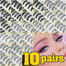 Wholesale 10 Set Pairs in a SET Natural OR Thick Fake False Eyelashes Eye Lash STYLES CHOICE