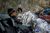 Wholesale Silvery Emergency Insulation Blanket Life Saving Blanket Hiking Camping Emergency blanket