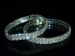 Wholesale Gorgeous Alloy with Clear Crystals Bridal Bracelets Bridal Jewelry Wedding Accessories