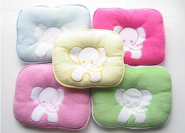 Wholesale cotton towels pet pillow SOFTLINE baby pillow Newborn cotton solidify Pillow Cushion with elephant