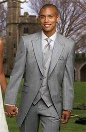 New Style Wedding Prom Men Suits Groom Tuxedos Bridegroom Suit (Jacket+Pants+Tie+Vest) D694
