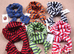 Wholesale NEW FaLL Korean Wild Striped Scarf Candy Color Children Scarves Scarf Baby Scarf