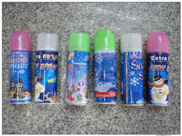 Wholesale Christmas promotion Christmas snow spray color spray Pink white green blue snow spray EMS