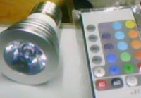 Wholesale New LED Spotlight E27 W W V RGB with remote control colorful lamp good quality