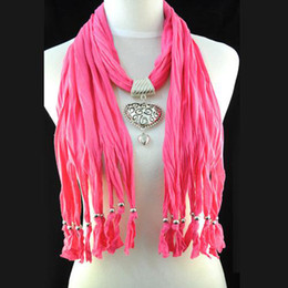 Costume alloy heart pendant Scarf - Jewelry necklace scarf & wraps for women , cheap scarves hot fashoin in UK, NL-1495G