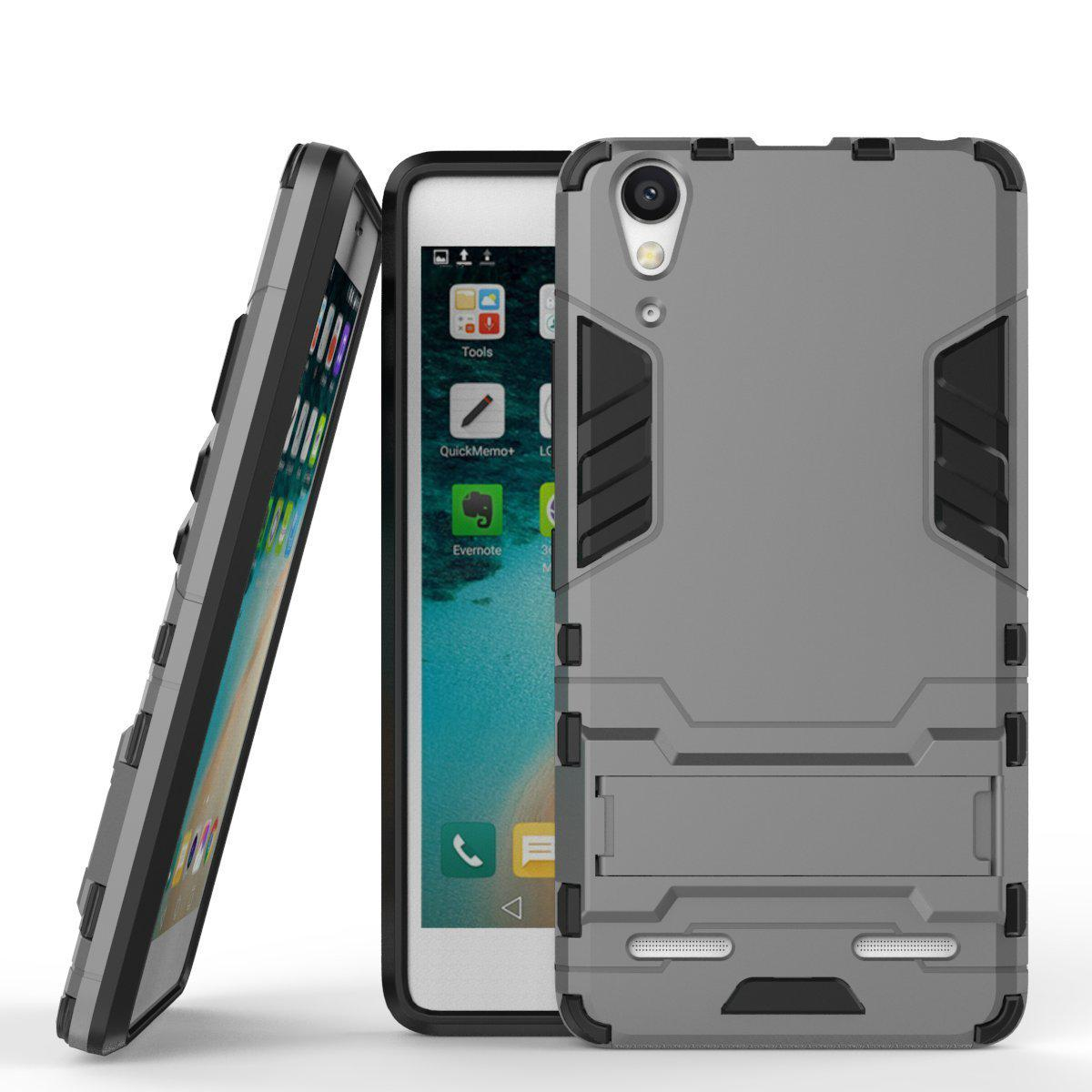 Buy Lenovo A6000 Phone Case Hard Back Cover Slim Armor Dual Layer Capa Shockproof Fundas Soft TPU Bumper Kickstand