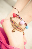 Wholesale Fashion golden bell anklet handmade bracelet exotic ankle bracelet