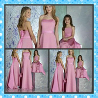 Full Refund Guarantee! 2012 New Pink Chiffon Strapless Long A-line Skirt Designer Bridesmaid Dresses