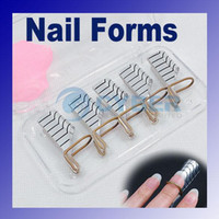 Nail Art Tools acrylic nail forms - Nail Forms Reusable Nail Forms UV Gel Acrylic French Tips Nail Art Professional Beauty