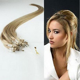 Wholesale 20inch s g Any One Color Loop Micro Ring Hair Extensions Remy Human Hair Extension