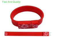 Wholesale Real GB Silicone wrist Bracelet USB Flash Thumb Drive usb stick thumb drive drive fast delivery