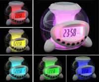 Wholesale Colorful music ball alarm clock LED Clock Colorful color clock Lazy Alarm Clock kg