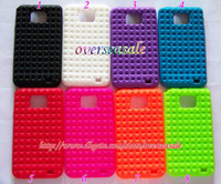 Wholesale For Samsung Galaxy i9100 S2 S II Chocolate diamond antiskid Soft silicone back cover case