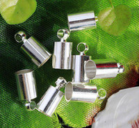 Other   Free shipping 200pcs LOT Silver Plated End Beads Ends Caps For 6mm Leather Cord a7761-2