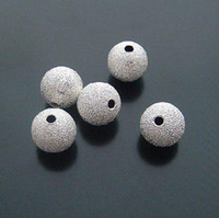 Wholesale 100pcs mm DIY copper beads stardust Silver plated Jewelry beads