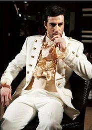 Custom Made New Style Wedding Prom Men Suits Groom Tuxedos Bridegroom Suit (Jacket+Pants+Tie+Girdle) D720D