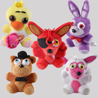ours de 15 cm achat en gros de-15cm 5pcs / Lot Cinq nuits à Freddy FNAF Fox Bear Bonnie Toys Plush Pendants Keychains Dolls