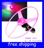 Wholesale pull line string flashing flying disk ufo kids toys