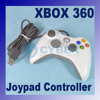 Wholesale New High quality Wired Game Joypad Controller With Grip For Xbox With Cable White Hot