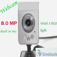 Wholesale Pc Camera Mega pixel LED Light USB Built in Microphone Web Cam Webcam
