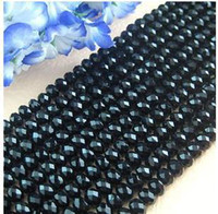 Wholesale MM Gemstone Black Faceted Crystal loose Glass Beads Brand New Jewelry DIY