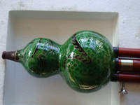 Wholesale Wonderful China trad musical instrument gourd flutes Cloisonne Hulusi
