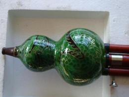 Wonderful China trad musical instrument gourd flutes- Cloisonne Hulusi