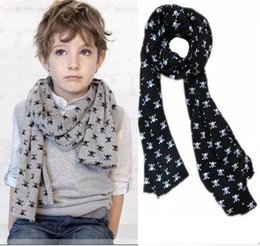 Wholesale Child Baby baby Scarves Double Skull Scarves Shawl Printing Family Scarves