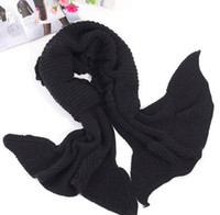 Wholesale Cashmere shawls Wool scarves Black Christmas Scarf Winter hot sell knit Shawls