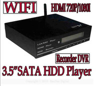 Wholesale Video Recorder DVR HDMI P I quot SATA HDD Media Player with LAN SD MMC MS Card reader LCD USB