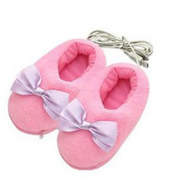 Wholesale 1pcs novelty gift USB Gift USB Heating Slippers Heated Shoes USB Warmer