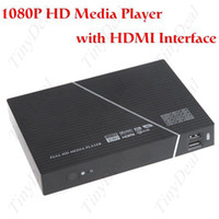 Wholesale 1080P HD Media Centre RM RMVB AVI MP4 MPEG TV Player with Remote Control YPbPr AV USB HDMI
