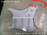 Wholesale dimarzio Pickguard Loaded DiMarzio pickups in white for guitars China guitars
