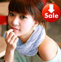 Wholesale On sale ladies candy pure color scarves multi ways long scarf cm colors in stock