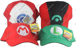 Wholesale Pokemen Cosplay Super Mario Cosplay Baseball Hat Baseball Cap mixed