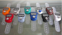 Wholesale 100pcs New Quality mini finger counter Hand tally counter digital counter many colors