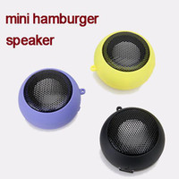Wholesale Mini Hamburger Speaker for iPhone iPod laptop MP3 MP4