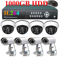 Wholesale 8 Dome CCD Camera H net DVR security CCTV system G HDD cellphone G monitor