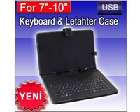 Wholesale Leather Case Keyboard for quot quot Android Tablet PC x220 zt180 EN UYGUN FIYATLAR