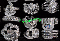 Wholesale Silver P Ring CZ Rings Crystal Bulk Rings Fashion Ring Costume Rings Jewelry Wedding CZ48