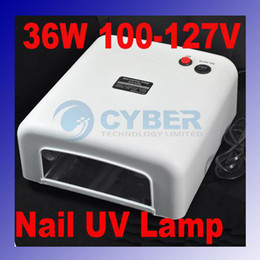 Wholesale 36W UV GEL Nail Curing Lamp Dryer W Tube Bulb Light White V With US Plug